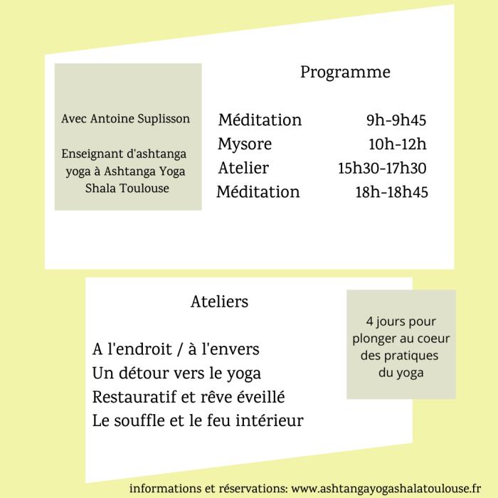 Retraite d'Ashtanga Yoga en Ariège